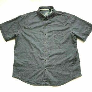 G.H. Bass & Co Men's Short Sleeve Woven Shirt Gray
